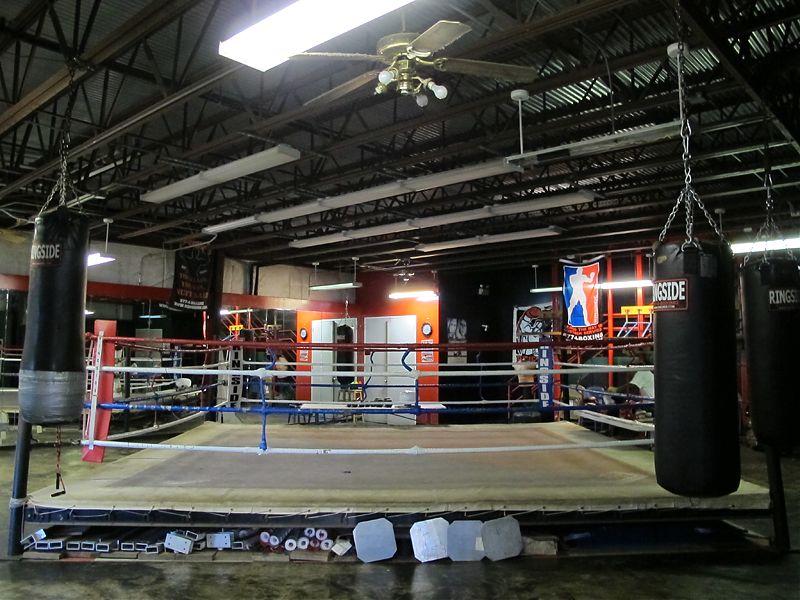 Amateur boxing ring